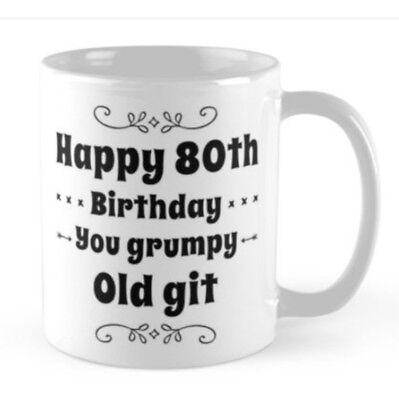 80th Birthday small gift idea funny mug 1938 Husband Brother friend Granddad pop ()