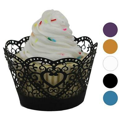 25pc Christmas Lace Laser Cut Cupcake Wrapper Liner Baking Cup Muffin Holiday