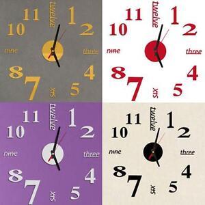 soggiorno grande arte design 3d fai-da-te orologio da parete casa ... - Soggiorno Moderno Fai Da Te
