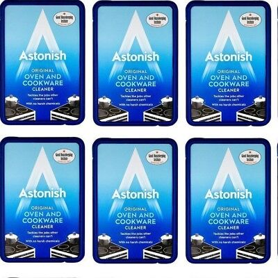 Pack of 6 x Astonish Oven and Cookware Cleaner Paste 150g The Original and
