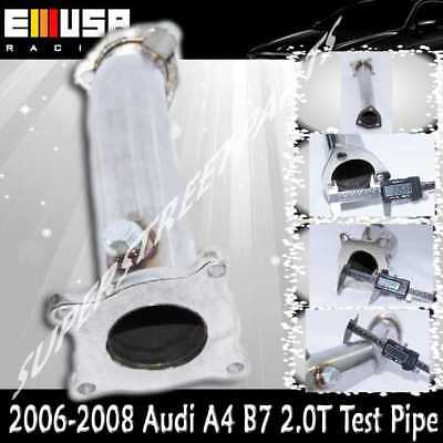 Test Pipe Cat-Delete Downpipe fits 07-08Audi A4 B7 2.0T Cabriolet Convertible2D
