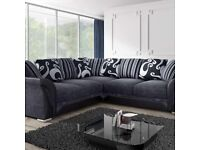 BRAND NEW SHANNON SOFA CORNER OR 3+2 SEATER SOFA SET AVAILABLE IN STOCK IN MANY COLORS