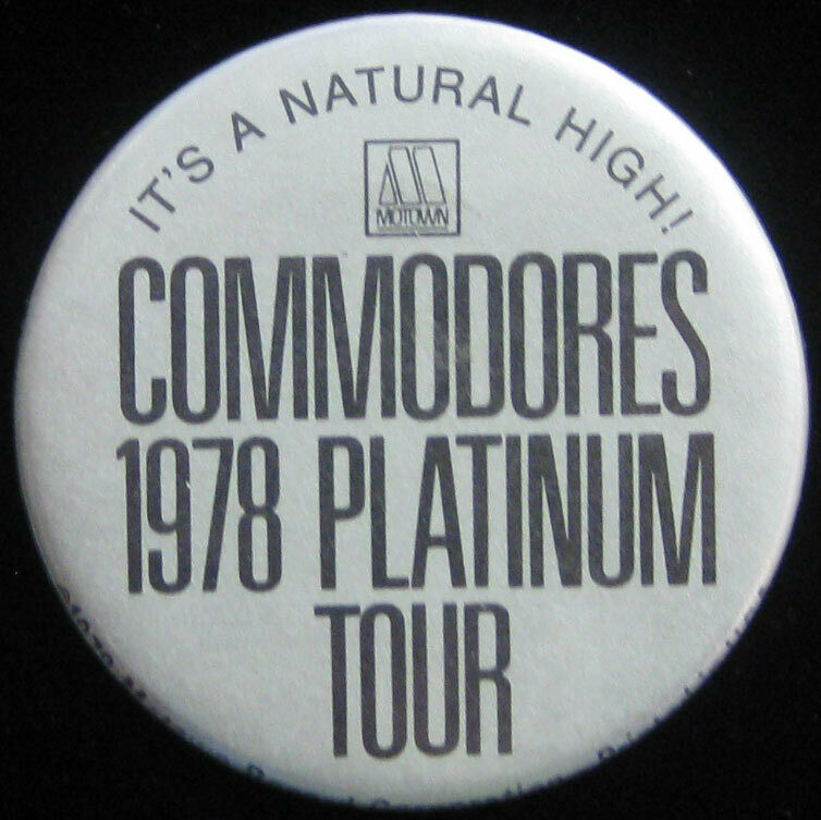 Commodores 1978 Platinum Tour VTG Pin Badge Button for hat/jacket/shirt Motown