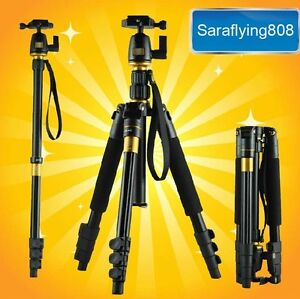 Digital Camera Tripod Monopod Ball Head For DSLR SLR Professional Nikon Canon