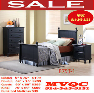 875-T, new style Bedroom set, mattresses & box spring, mvqc