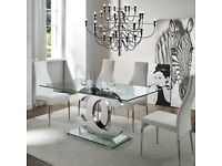 CC Glass & chrome Dining Table (no chairs)