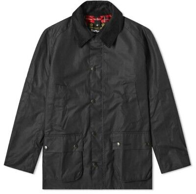 NWT Barbour Ashby Wax Jacket Black /Large / Completely NEW