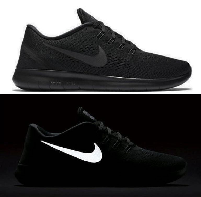 Nike - New NIKE Free RN Reflective Men's Running Shoes triple black mono all sizes