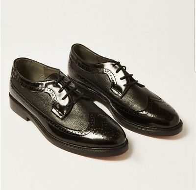House Of Hounds Basilisk Black Leather Brogues Formal Shoes Black Size EU 45