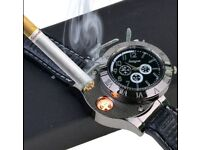 2 In 1 Rechargeable Watch. Lighter Electronic Cigarette Lighter. USB Charge Flameless Cigar .Light w