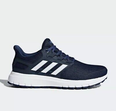 1bda62c3cbae5 Adidas Mens Energy Cloud 2 Size 9 Navy  White Running Shoes New In Box  Sneakers