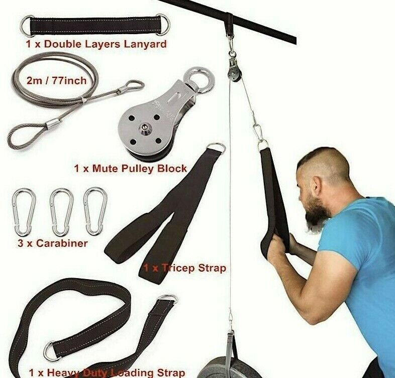 fitness pulley cable machine equipment home workout