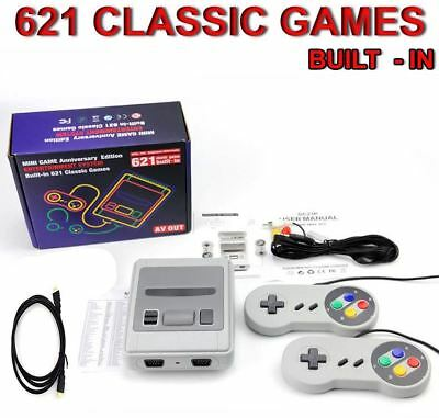 621 Games in 1 Classic Mini Game Console for SNES Retro TV...