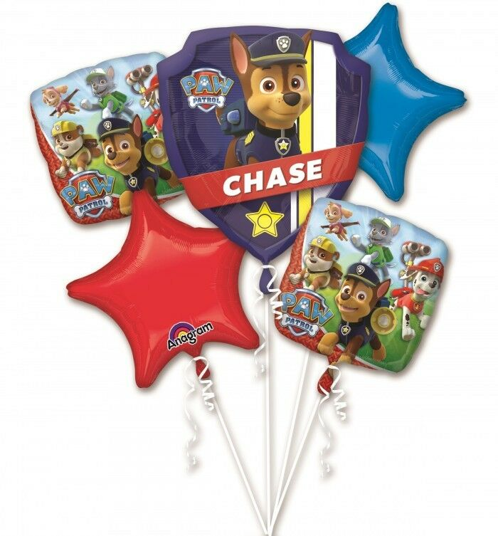 Anagram PAW PATROL CHASE & MARSHALL Foil 5 Balloon Bouquet