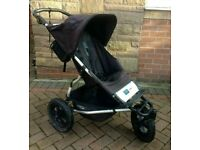Mountain Buggy Urban all terrain pushchair in black dot