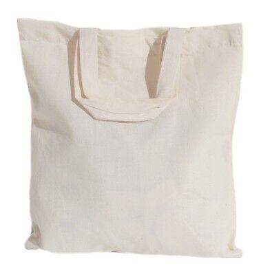 25 Wholesale Bulk Natural Cotton Tote Bags - Choice of 6 sizes (Tote Bags Bulk)