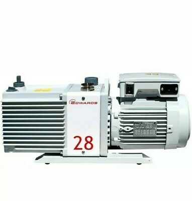 Rebuilt Edwards E2m28 Dual Stage Rotary Vacuum Pump 6 Month Warranty