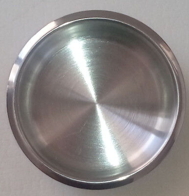 2 stainless steel shallow  drink cup holder for tables cars