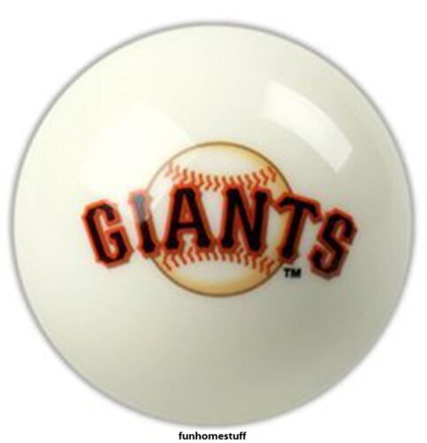WHITE SAN FRANCISCO GIANTS MLB BILLIARD GAME POOL TABLE CUE 8 BALL REPLACEMENT