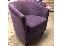Purple valour tub chairs x 4 hairdresses waiting room reception REDUCED PRICE !!!