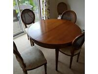 Table 6 chairs. French Cherry Wood extendable