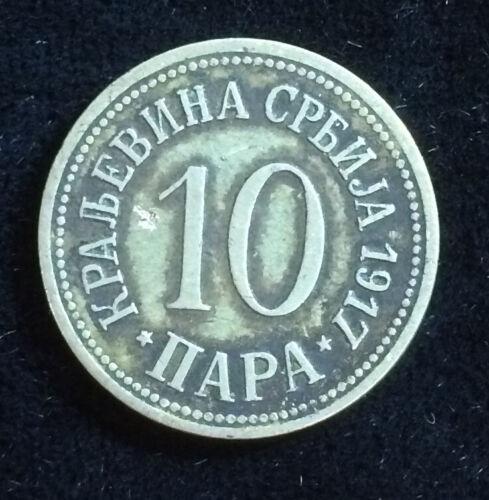 Serbia 10 Para, 1917 WW1 Coin