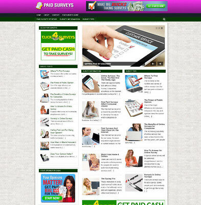 GET PAID TO TAKE SURVEYS AFFILIATE WEBSITE WITH STORE + DOMAIN - VIDEO PAGES