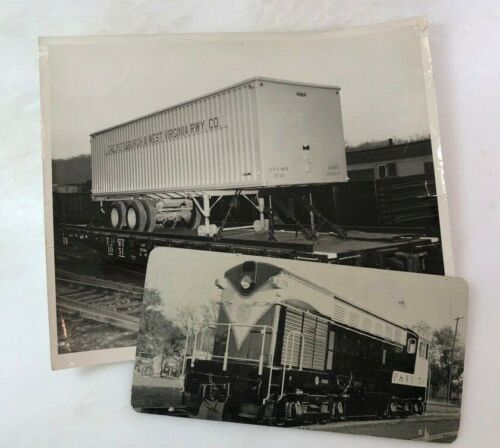 1960s PITTSBURGH & WEST VIRGINIA RAILWAY Railroad Card & 8x10 Photo