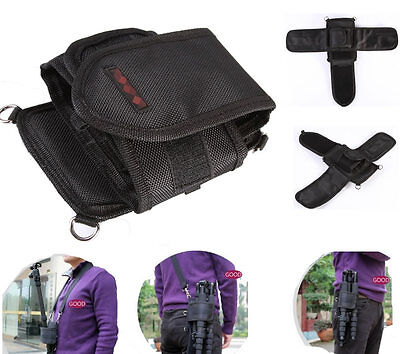 Portable Bag Waist Pouch Case With Buckle Belt For Camera Monopod Tripod Support