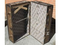 Vintage Fitted Wardrobe Steamer Travel Trunk Or Chest