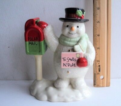 2015 LENOX Annual Holiday SNOWMAN Figure Mailing Letter to Santa - FLASH SALE