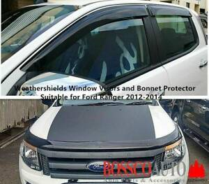 Weathershields Visors and Bonnet Protector for Ford Ranger 2012 - 2014 Prestons Liverpool Area Preview