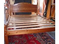 SOLID WOOD PINE DOUBLE BED. NOT MATTRESS