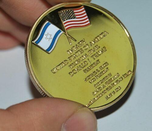 Jerusalem, Israel Embassy - Challenge Coin. Trump. Messianic. Yeshua, USA SHIP