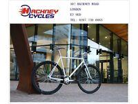 Brand new single speed fixed gear fixie bike/ road bike/ bicycles + 1year warranty & free service qr