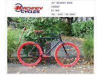 Brand new single speed fixed gear fixie bike/ road bike/ bicycles + 1year warranty & free service 1x