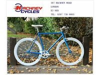 Brand new single speed fixed gear fixie bike/ road bike/ bicycles + 1year warranty & free service de