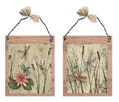 - 💗 Dragonflies Pictures Dragonfly Water Lily Flower Wall Hangings Plaques