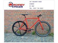 Brand new single speed fixed gear fixie bike/ road bike/ bicycles + 1year warranty & free service bk