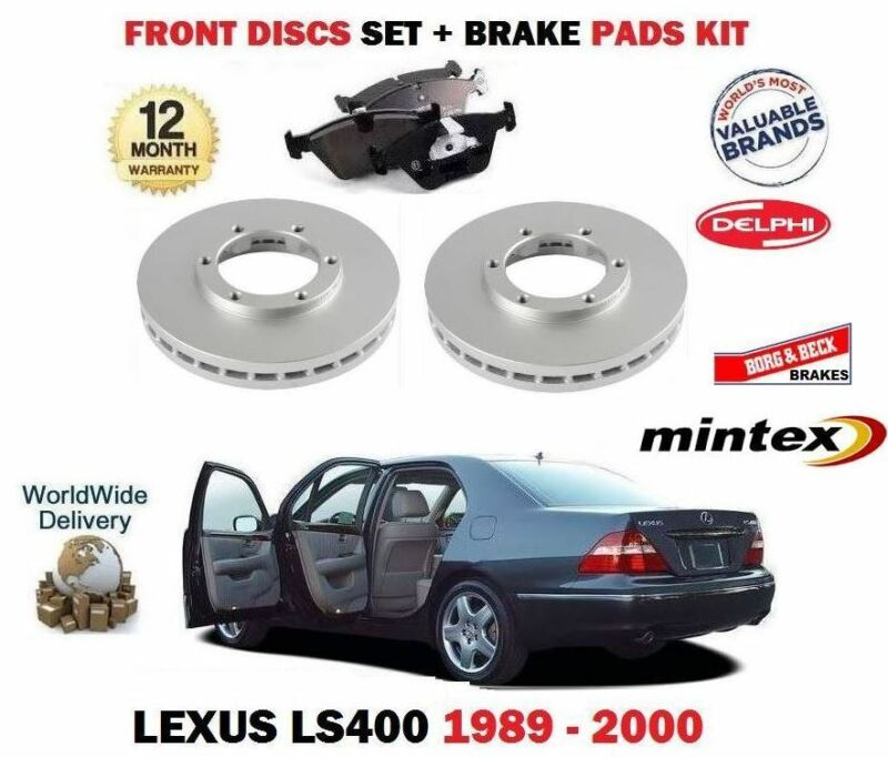 FOR LEXUS LS400 4.0 1UZ-FE 1989-2000 NEW FRONT BRAKE DISCS SET + DISC PADS KIT