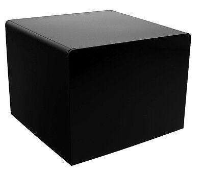 Black 3 Jewelry Cube Riser Display Box 5 Sided Durable Acrylic