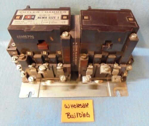 CUTLER HAMMER REVERSING CONTACTOR C50CN3 SERIES A1, NEMA SIZE 1, 27 AMPS