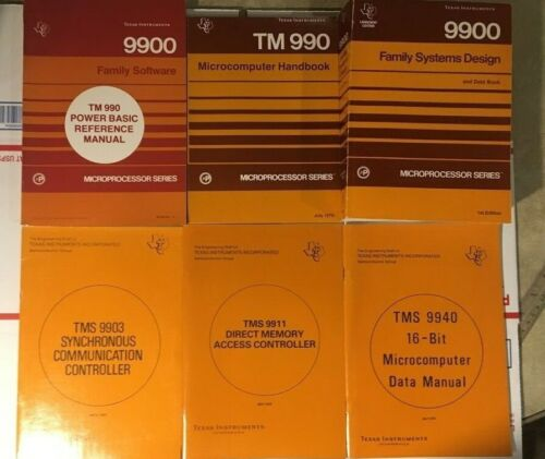 6 Book Lot TI 9900 Family Systems Design & Data Book