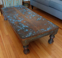 Wood coffee table / table de salon - made in INDIA - EXCELLENT