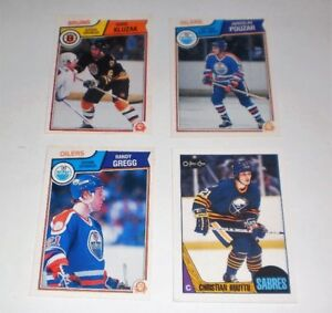 4 Rookie Hockey Players mint cond.