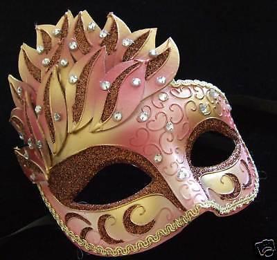 Venetian Masquerade Ball Party Mask LADY GODIVA Costume Mardi Gras Prom Party