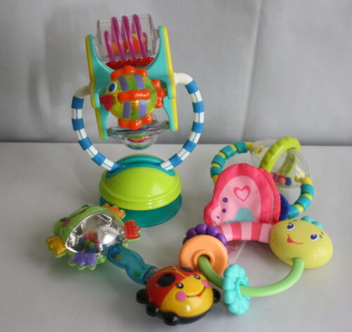 Infant toys Lot of 4 Misc Rattles Teethers And Toys