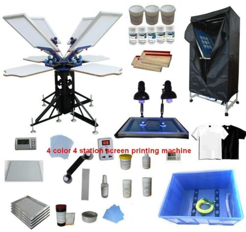 Professional Screen Printing Kit for Various Printing Commercial Press Set New
