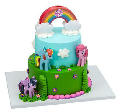My Little Pony Over the Rainbow cake decoration Signature Decoset cake topper