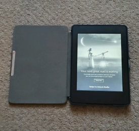 Kindle Paperwhite with box and case
